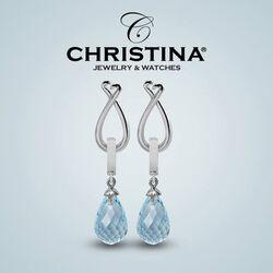 Christina zilveren oorbellen voor charms