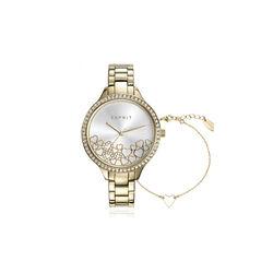 Esprit cadeauset verguld horloge met armbandje