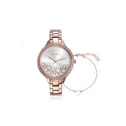 Esprit rose stalen horloge Time for Love