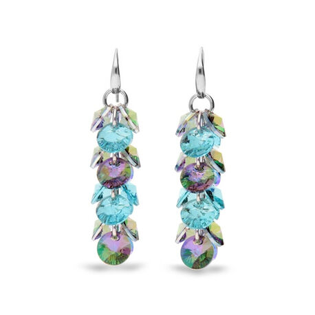 Zilver oorbellen paradise shine light turquoise Spark Frou Frou