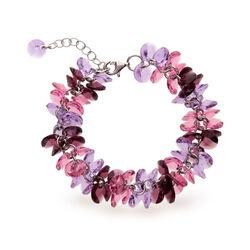 Spark Frou Frou armband amethist en roze