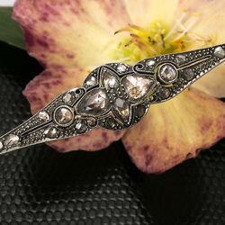 Antieke gouden broche roosdiamanten