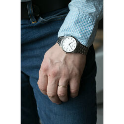 Boccia titanium herenhorloge witte wijzerplaat