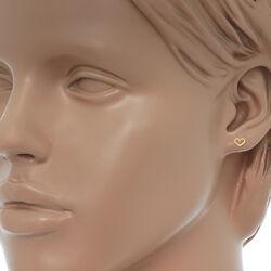 Gouden oorbelletjes hart zirkonia