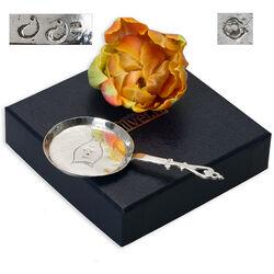 miniatuur zilver koekenpan