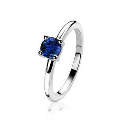 Zinzi ring jeansblauw zirkonia zir1300q