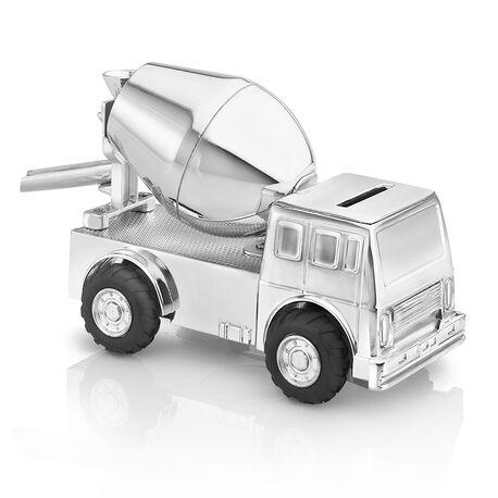 Spaarpot cementwagen verzilverd zilverstad