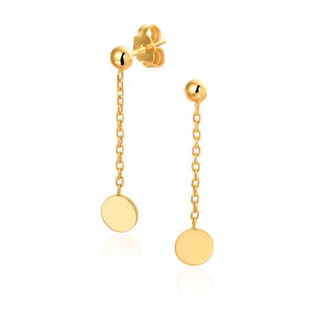 lange gouden oorstekers bol met rondjes