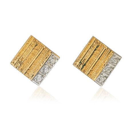 Gouden oorbellen met briljant Lapponia 132195