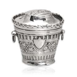 Loddereindoosje antiek zilver 1837
