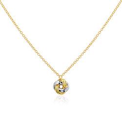 Gouden collier bicolor knoop