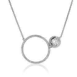 Zinzi zilver collier ronde vormen zic1244