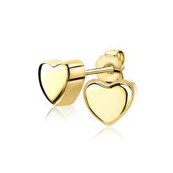 Zinzi gouden oorknopjes hart zgo109