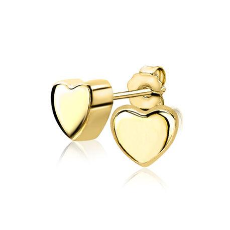 Gouden oorstekers hart van Zinzi Gold