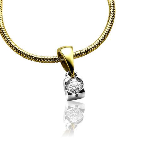 Zinzi gouden hangertje met briljant zgh91