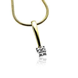 goud hangertje met diamant van Zinzi Gold ZGH95