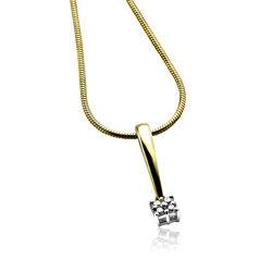 goud hangertje met diamant van Zinzi