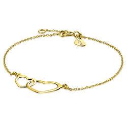 Zinzi gouden armbandje met hartjes zga114