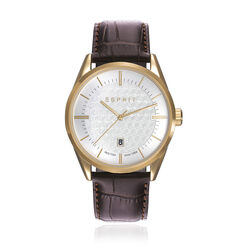 Esprit herenhorloge chronograaf Austin street dark brown