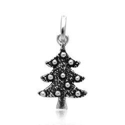 Zilveren bedel of hanger kerstboom van Raspini