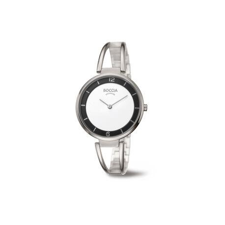 Boccia titanium horloge ronde kast