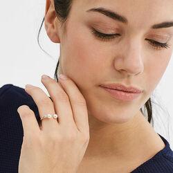 Zilver ring met crystal pareltjes Esprit ESRG92712A