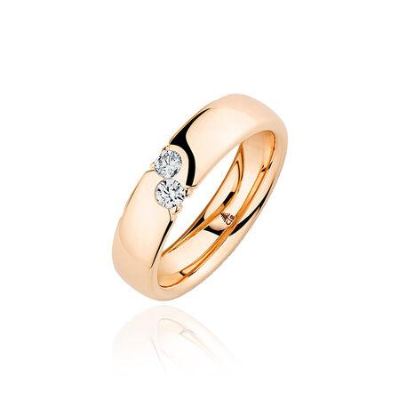 rosegouden ring briljanten