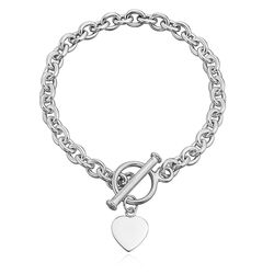 Zilveren armband met een hartje