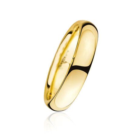 Gladde gouden trouwring van Christian Bauer
