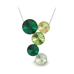 Spark Lollipop Necklace Emerald Peridot