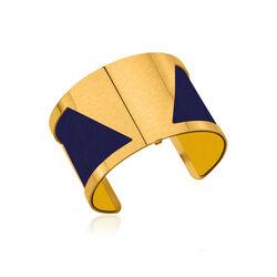 Les Georgettes leertje geel blauw 40 mm
