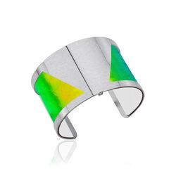Les Georgettes 25 mm leertje wit en multicolor