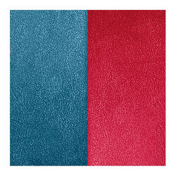 Les Georgettes 14 mm leertje framboos en petroleum blauw