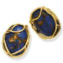 Verguld zilver oorbellen Lapis Lazuli Raspini