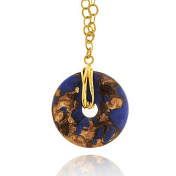 Verguld zilveren keting met lapis lazuli hanger Giovanni Raspini