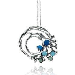 Zilveren collier Ocean van Giovanni Raspini