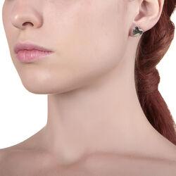 Hart oorstekers zilver van Giovanni Raspini