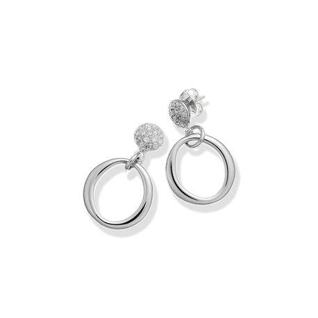 Giovanni Raspini zilveren oorstekers bezet met Swarovski Crystal