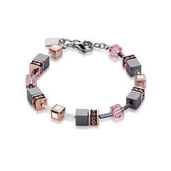 Coeur de lion armband hematiet roze 4015/30-1900