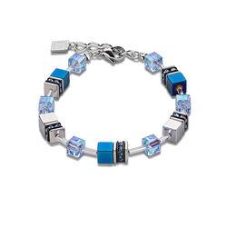 Coeur de Lion armband Geo Cube Blue 4015-30-0700
