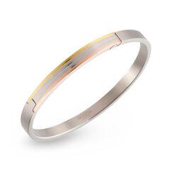 Boccia titanium slavenarmband tricolor 03006-02