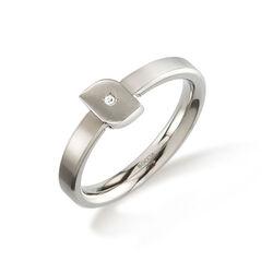 Boccia titanium ring tulip met een diamantje  0141-02
