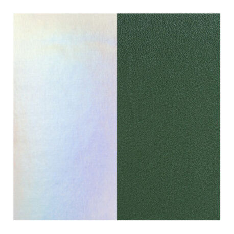 Les Georgettes 25 mm leertje groen en zilver metallic