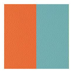 Les Georgettes 12 mm leertje oranje en turquoise