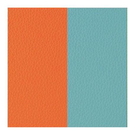 inlegleertje voor ring Les Georgettes oranje turquoise