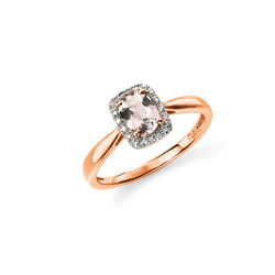 Elements 9 krt rose ring morganiet en diamant GR517P