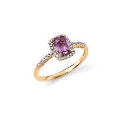 Ring amethist diamant Elements 9 krt