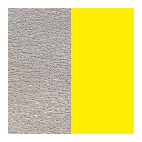 Leren inlay grijs geel 25mm Les Georgettes