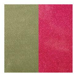 Les Georgettes 14 mm leertje groen en glitter fuchsia