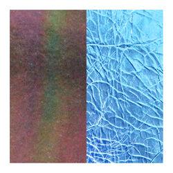 Les Georgettes 14 mm leertje donker blauw metallic en paarse parelmoer glans